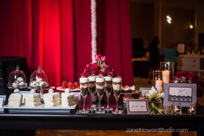 True Red Dessert Table