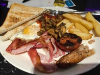English breakfast - what you serve when you want your company to leave your home promptly.